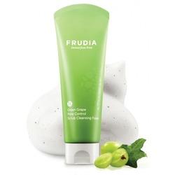 Себорегулирующая скраб-пенка для умывания с зеленым виноградом Frudia