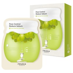 Себорегулирующая маска с зеленым виноградом Frudia (Корея)