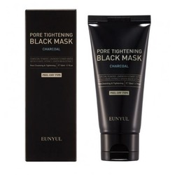 Черная маска пленка сужающая поры с углем Pore Tightening Black Mask Eunyul