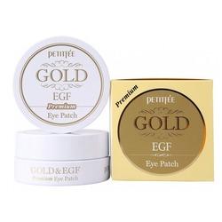 Гидрогелевые патчи под глаза с золотом и фактором роста EGF Premium Gold & EGF Eye Patch Petitfee