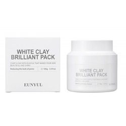 Очищающая маска для лица с белой глиной White Clay Brilliant Pack Eunyul