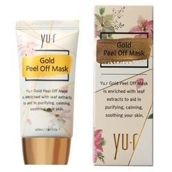 Золотая маска-пленка Gold Peel Off Mask Yu.R