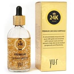 Омолаживающая сыворотка для лица с 24К золотом Премиум Yu.R