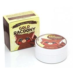 Гидрогелевые золотые патчи для кожи вокруг глаз Gold Racoony Secret Key