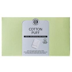 Спонжи косметические из 100% хлопка Cotton Puff The Saem