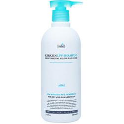 Беcсульфатный шампунь для волос с кератином Keratin LPP Shampoo Lador
