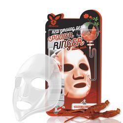 Омолаживающая тканевая маска для лица с экстрактом красного женьшеня Red Ginseng Deep Power Ringer Mask Pack Elizavecca