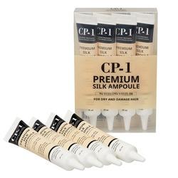 Несмываемая сыворотка для волос с протеинами шёлка CP-1 Premium Silk Ampoule Esthetic House