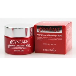 Антивозрастной крем для лица с пептидом змеиного яда Syn-Ake Anti Wrinkle & Whitening Cream Secret Key