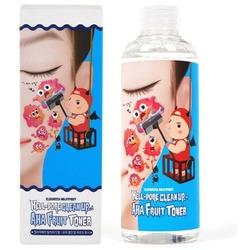 Очищающий тоник пилинг для лица с фруктовыми кислотами Hell-Pore Clean Up AHA Fruit Toner Elizavecca