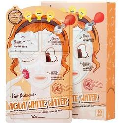 3-шаговая увлажняющая маска для лица 3-step Aqua White Water Mask Pack Elizavecca