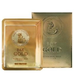 Маска тканевая с золотом и секретом улитки 24k Gold Water Dew Snail mask Elizavecca