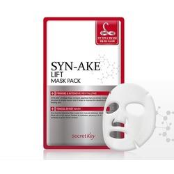 Тканевая лифтинг-маска для лица с пептидом змеиного яда Syn-Ake Lift Mask Pack Secret Key