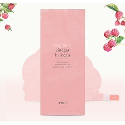 Восстанавливающая маска для волос с малиновым уксусом Raspberry Vinegar Hair Cap A'PIEU