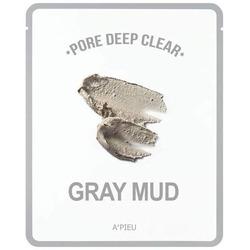 Тканевая маска с серой глиной для очищения пор Pore Deep Clear Gray Mud Mask A'PIEU
