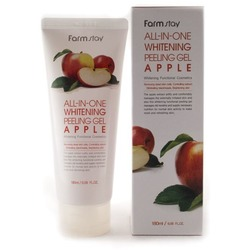 Осветляющий пилинг гель с экстрактом яблока All In One Whitening Peeling Gel Apple FarmStay