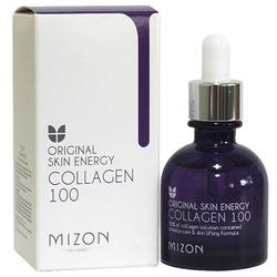 Сыворотка с 90% содержанием морского коллагена Original Skin Energy Collagen 100 Ampoule Mizon