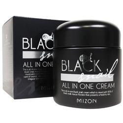 Многофункциональный премиум крем для лица с 90% экстрактом черной улитки Black Snail All In One Cream Mizon