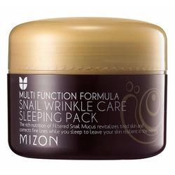 Антивозрастная ночная маска для лица с экстрактом улиточной слизи Snail Wrinkle Care Sleeping Pack Mizon