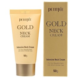 Крем для шеи и декольте с золотом Gold Neck Cream Petitfee
