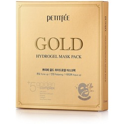 Гидрогелевая маска для лица с золотым комплексом +5 Gold Hydrogel Mask Pack golden complex Petitfee