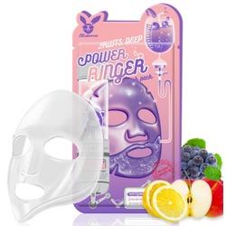Тонизирующая тканевая маска для лица с фруктовыми экстрактами Fruits Deep Power Ringer Mask Pack Elizavecca
