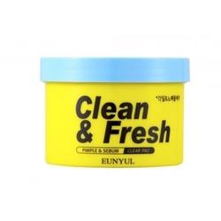 Очищающие диски для пилинга с кислотами Clean & Fresh Pimple & Sebum Clear Pad Eunyul