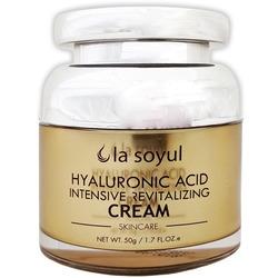 Крем для лица с гиалуроновой кислотой для интенсивного восстановления кожи Premium Hyaluronic Acid Intensive Revitalizing Cream La Soyul