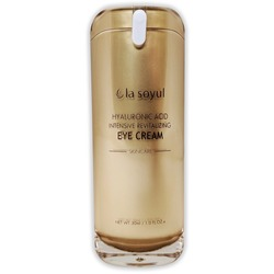 Крем с гиалуроновой кислотой для интенсивного восстановления кожи вокруг глаз Premium Hyaluronic Acid Intensive Revitalizing Eye Cream La Soyul