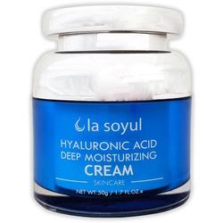 Крем для лица с гиалуроновой кислотой для глубокого увлажнения кожи Premium Hyaluronic Acid La Soyul