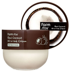 Многофункциональный крем для лица и тела с кокосом Real Coconut All-in-one FarmStay