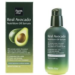 Питательная сыворотка с маслом авокадо Real Avocado Nutrition Oil Serum FarmStay