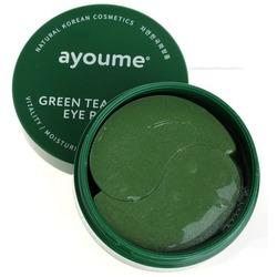 Патчи для глаз от отечности с экстрактом зеленого чая и алоэ Ayoume