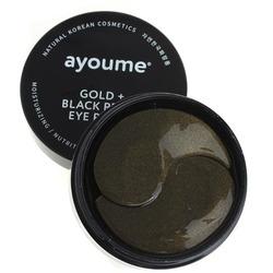 Патчи для глаз от темных кругов с золотом и черным жемчугом Ayoume