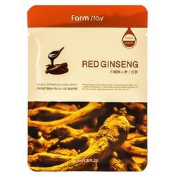 Тканевая маска для лица с экстрактом красного женьшеня FarmStay