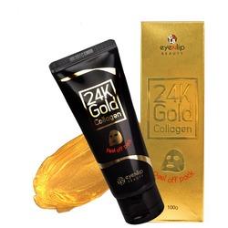 Очищающая маска пленка с 24к золотом Eyenlip