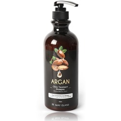 Восстанавливающий шампунь для волос с аргановым маслом May Island