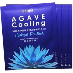 Охлаждающая гидрогелевая маска для лица с экстрактом агавы Petitfee