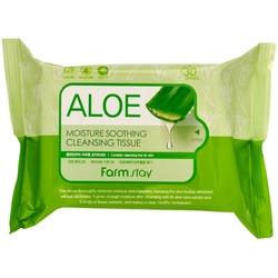 Очищающие успокаивающее салфетки с алоэ вера FarmStay