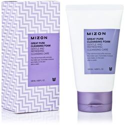 Скрабирующая пенка для очищения кожи лица Mizon