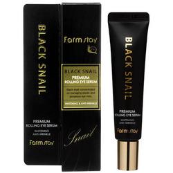 Антивозрастная сыворотка для кожи вокруг глаз с муцином улитки Black Snail Premium Rolling Eye Serum FarmStay