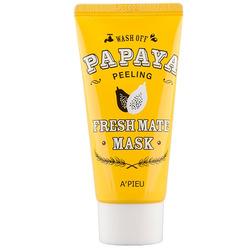Маска-пилинг с папайей для мягкого очищения кожи лица Apieu