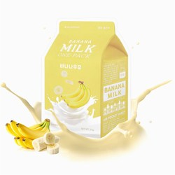 Тканевая маска для лица с экстрактом банана Banana Milk One-Pack Apieu