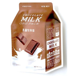 Тканевая маска для лица с экстрактом шоколада Chocolate Milk One-Pack Apieu
