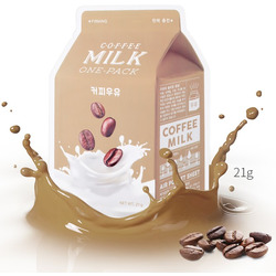 Тканевая маска для лица с экстрактом кофе Coffee Milk One-Pack Apieu
