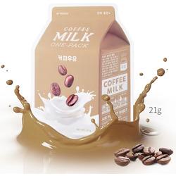 Тканевая маска для лица с экстрактом кофе Coffee Milk One-Pack Apieu