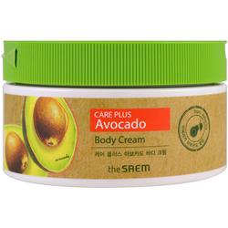 Питательный крем для тела с экстрактом авакадо Care Plus Avocado Body Cream The Saem
