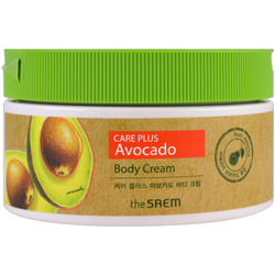 Питательный крем для тела с экстрактом авокадо Care Plus Avocado Body Cream The Saem