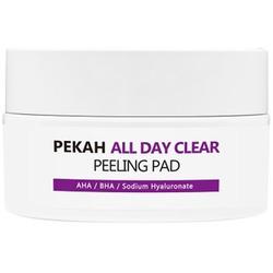 Очищающие и отшелушивающие диски с АНА и ВНА кислотами All Day Clear PEKAH
