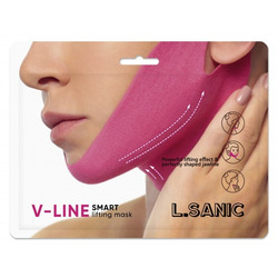 Маска-бандаж для коррекции овала лица V-Line Smart Lifting Mask L'Sanic